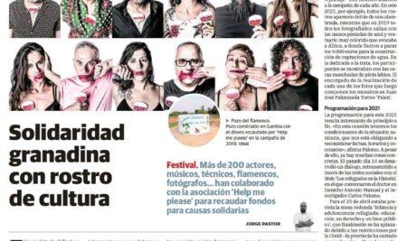 Solidaridad granadina con rostro de cultura