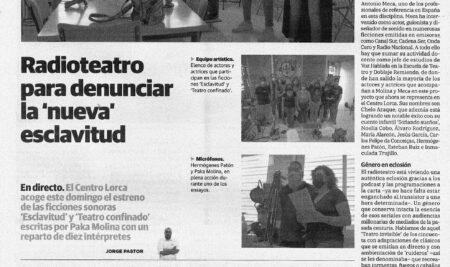"""Radioteatro para denunciar la """"nueva esclavitud"""""""